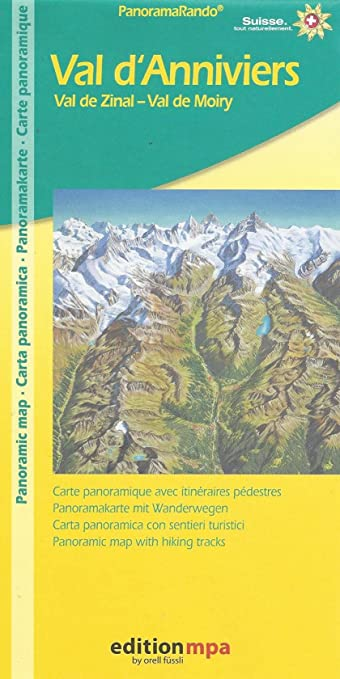 Amazon val danniviers swiss alps panoramic map with hiking val danniviers swiss alps panoramic map with hiking routes publicscrutiny Gallery