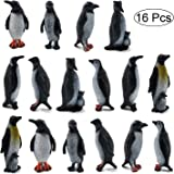 16Pcs Plastic Penguin Figurines, ORZIZRO Cute Ocean Animal Penguin Figure Model Toys for Kids Children – Realistic & Detailed