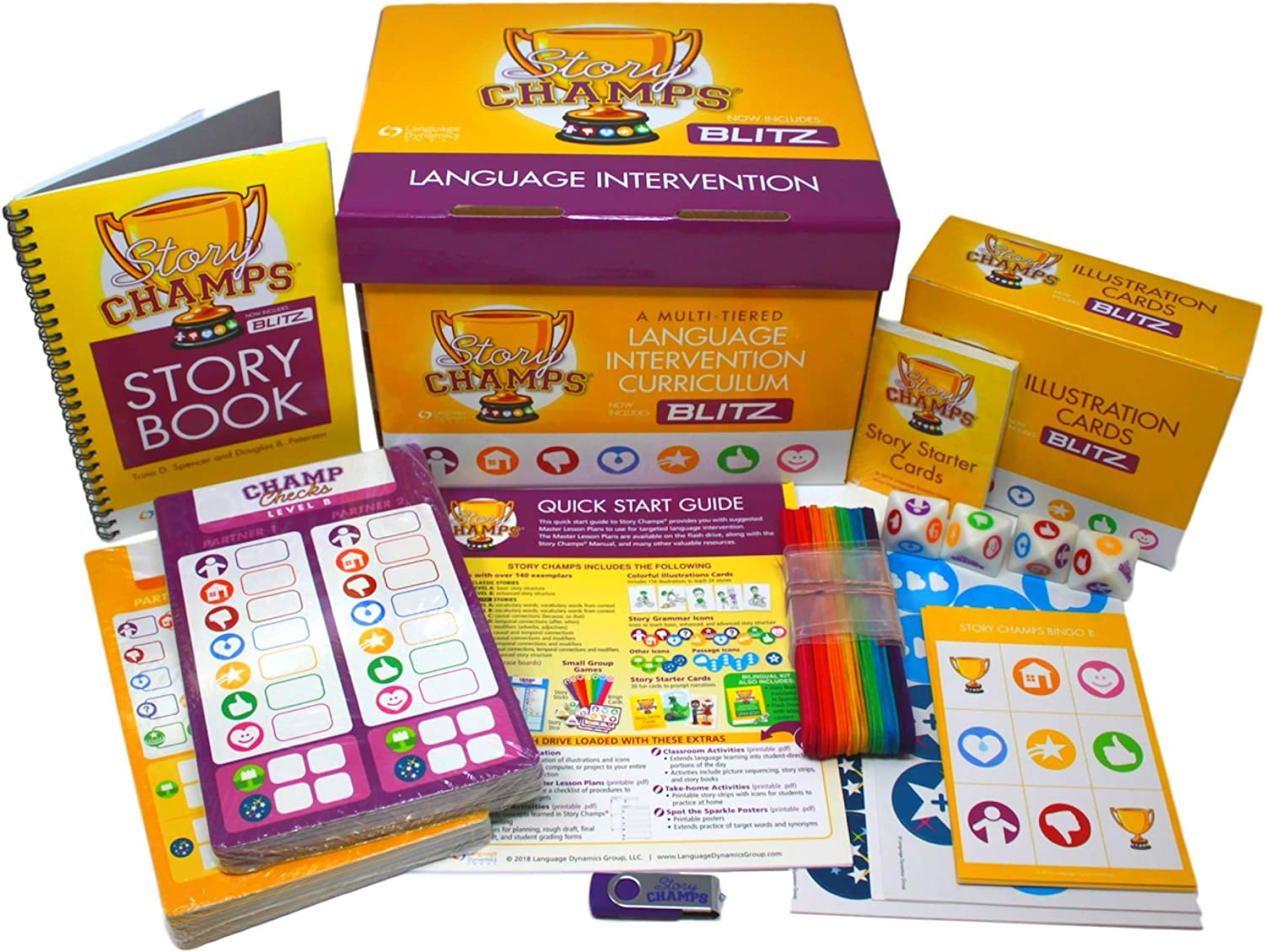 Amazon Com Story Champs 2 0 Materials For Speech Writing Development Reading Comprehension Language Assessment Intervention For Toddler School Age Esl Special Education With Curriculum Workbook Games Strategies Toolkit Office Products