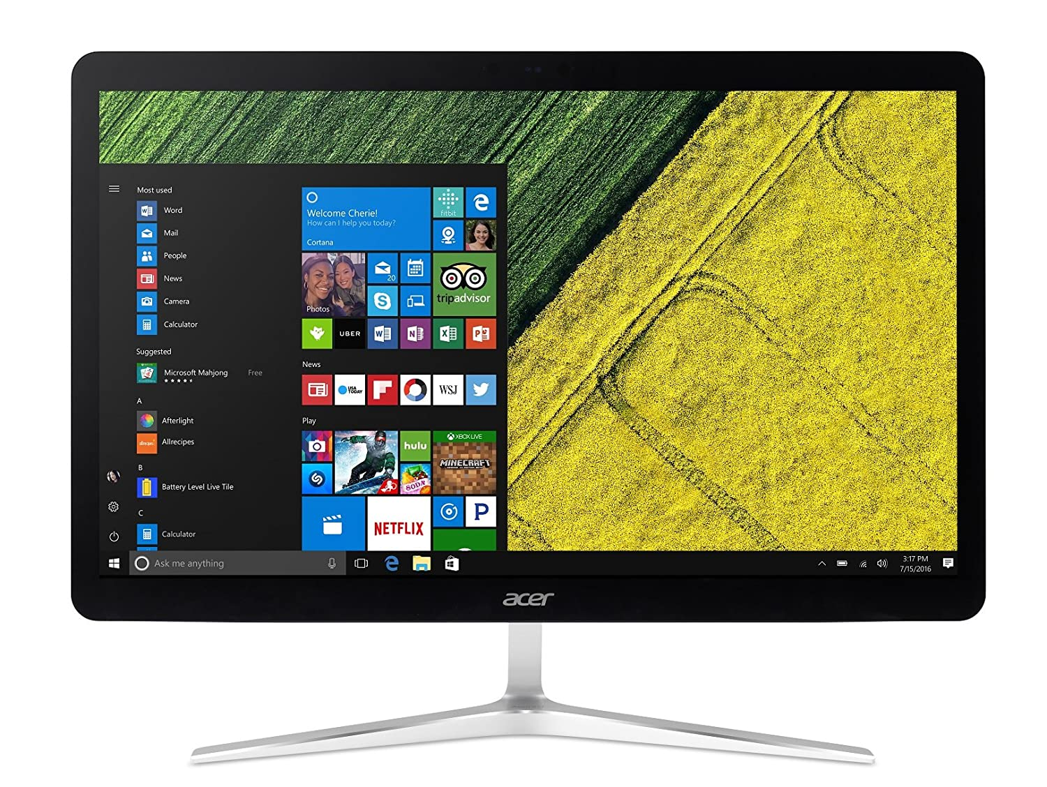 Acer Aspire U27 U27-880 Desktop PC All in One con Processore Intel Core i5-7200U, RAM 8 GB DDR4, 1000 GB HDD, Display 27' FHD Multitouch, Windows 10 Home, Argento Display 27 FHD Multitouch DQ.B8SET.012