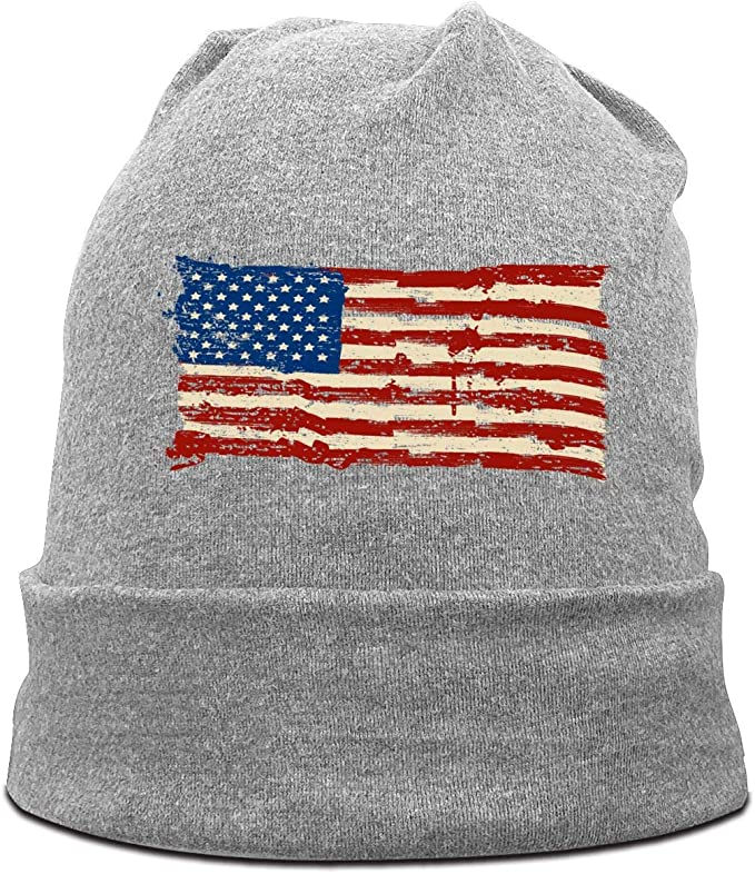 Happy Labor Day American Flag Beanie Cap Hat Men /& Women Knitting Hats Stretchy /& Soft Beanie