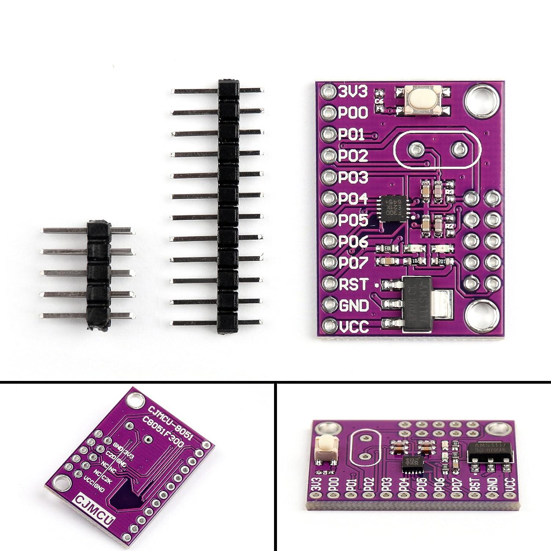 Areyourshop C8051f300 Cjmcu 8051 Microcontroller Module Mcu Reset Circuit Ispflash Development Board Industrial Scientific