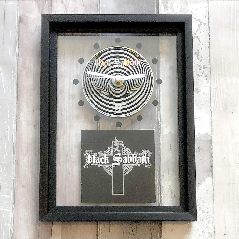 FRAMED CD ART CLOCK//Exclusive Design Greatest Hits BLACK SABBATH