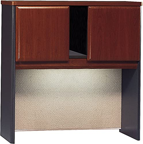 Bush Business Furniture Series A Collection 36W Hutch in Hansen Cherry Galaxy