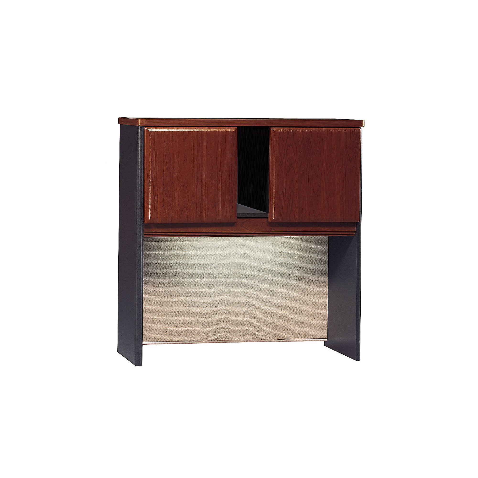 Bush Business Furniture Series A 36W Hutch - Hansen Cherry/Galaxy 36W X 14D X 37H Ergonomichome American Made TAA Compliant by ErgonomicHome Bush Business Furniture
