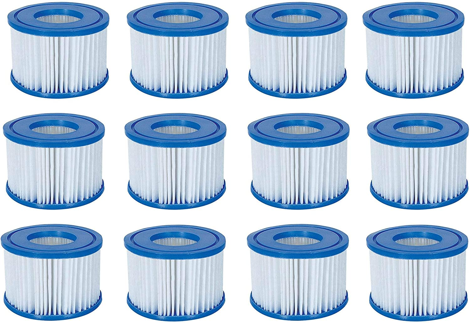 Bestway Spa Filter Pump Replacement Cartridge Type VI (12 Pack) (Coleman)