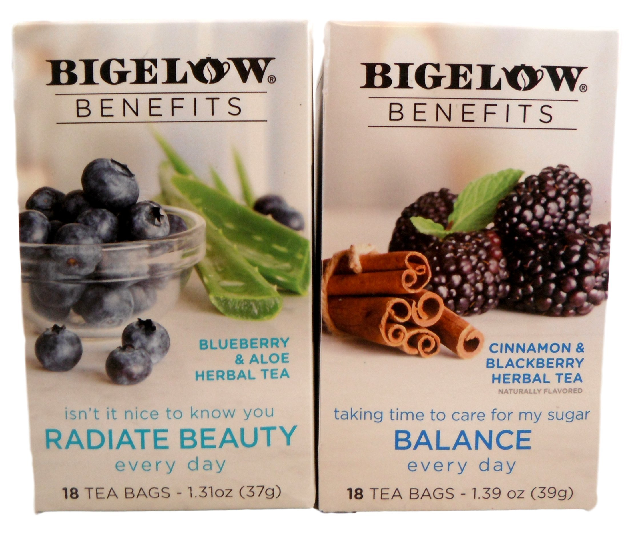 Benefits of herbal peach tea - Bigelow Benefits Beauty And Balance Herbal Tea Bundle 2 Boxes Of Tea One Each