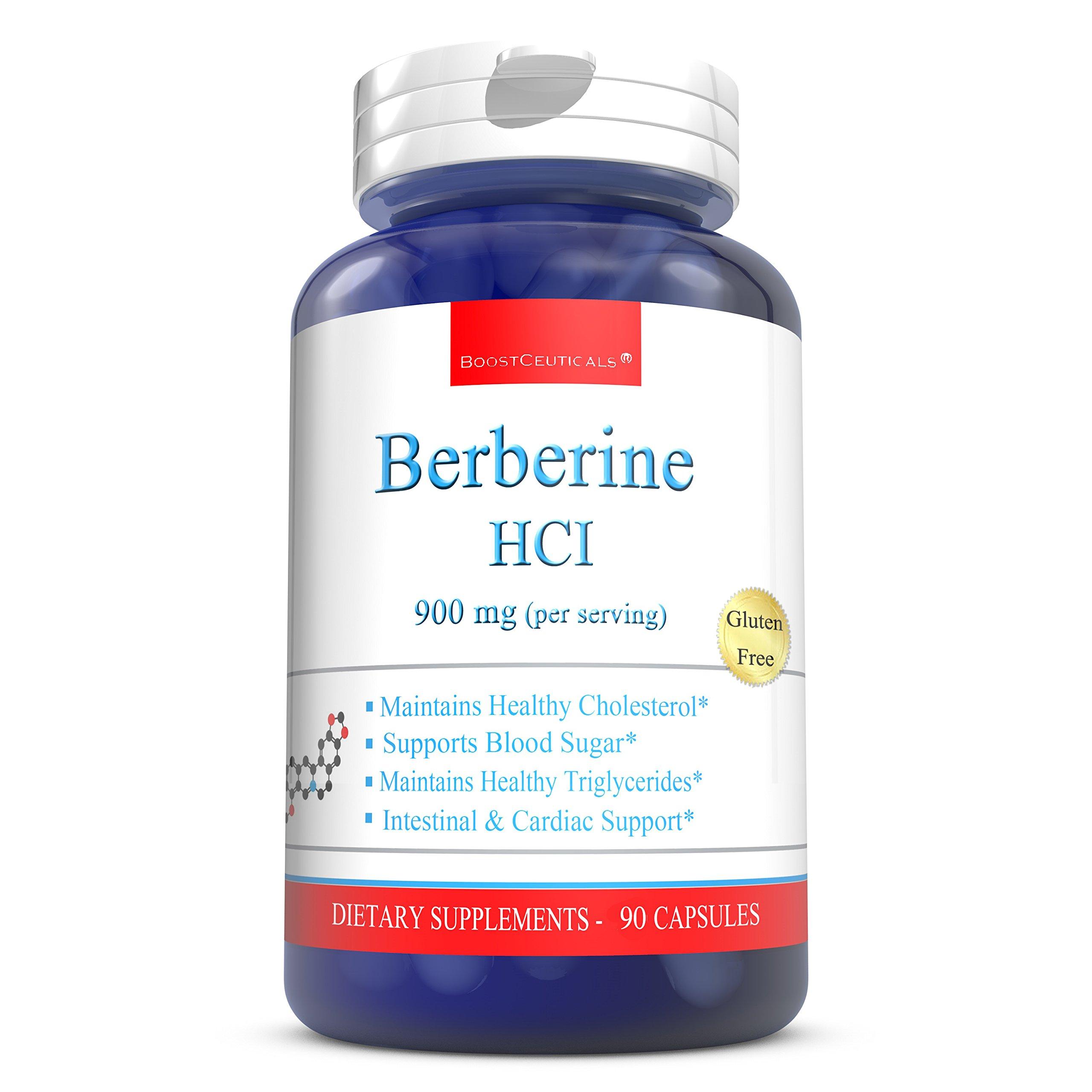 BoostCeuticals Berberine 900mg Ideal Daily Dose Berberine Supplements - Pure Non-GMO Gluten Free Berberine HCL Support Complex