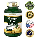 Ginger Root Capsules 1500 mg | 200 Pills | DNA