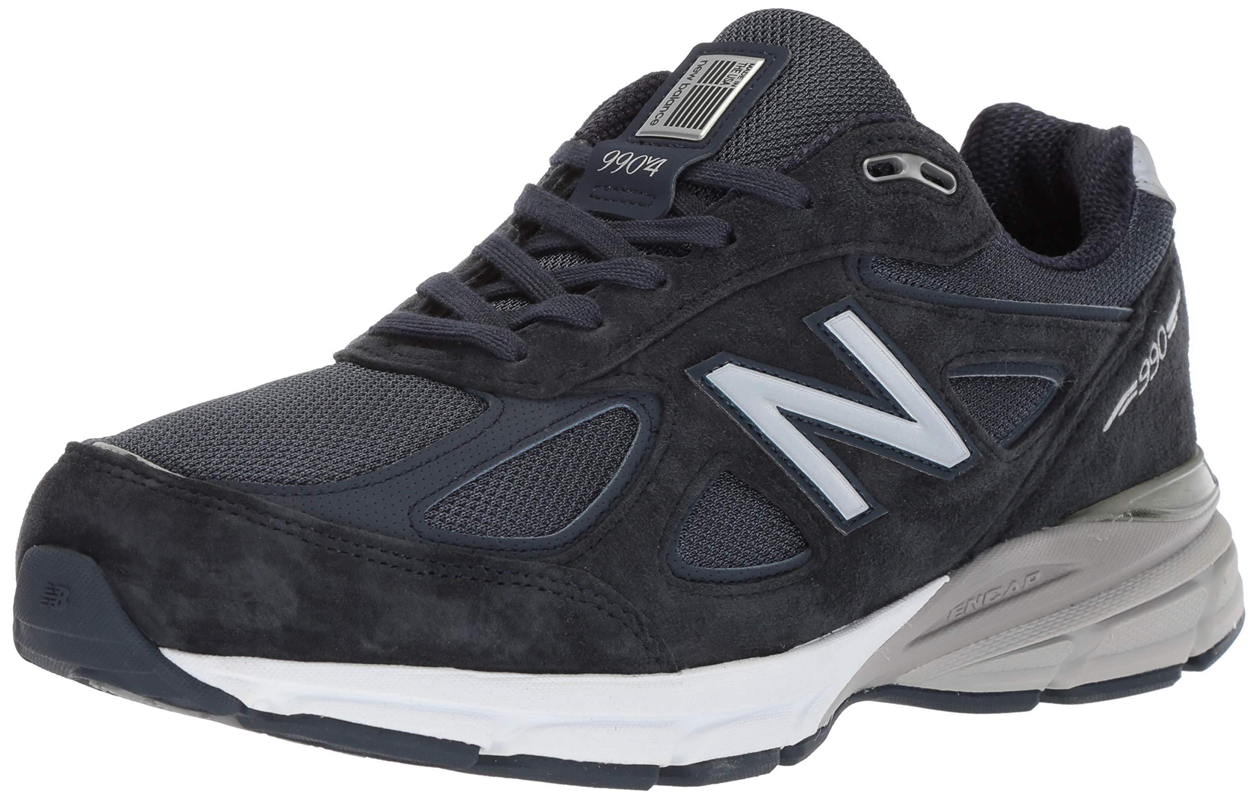 New Balance Men's 990v4, Dark Blue/Black 10 6E US