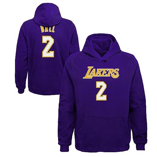 Lonzo de los Angeles Lakers # 2 NBA juventud forro polar sudadera con capucha, casual , Púrpura: Amazon.es: Deportes y aire libre