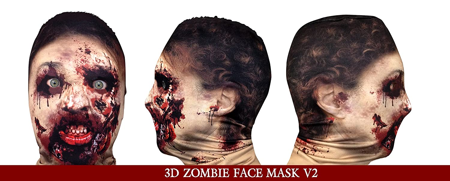 Next Generation Zombie V2 3D Effect Face Skin Grim Reaper Made In ...