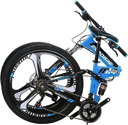 "Kingttu 26/"" 21 Speed Folding Mountain Bike Bicycle Full Suspension MTB Foldable"