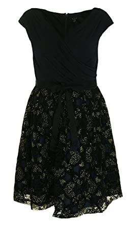 c6882bfdea0 Image Unavailable. Image not available for. Color  SLNY SL Fashions Womens Plus  Glitter Sleeveless Party Dress ...