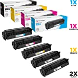 LD Compatible Toner Cartridge Replacements for HP 312A & HP 312X High Yield (2 Black, 1 Cyan, 1 Magenta, 1 Yellow, 5-Pack)