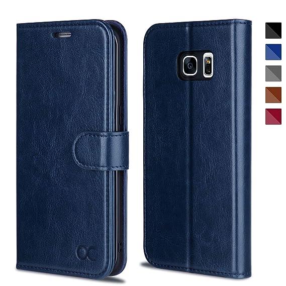 OCASE Samsung Galaxy S7 Edge Hülle Handyhülle Tasche Leder Brieftasche Klappetui Schutzhülle kompatibel für Samsung Galaxy S7