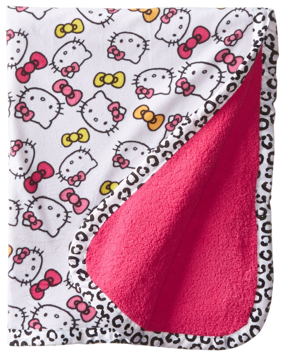 Amazon.com : Baby-Girls recién nacido Impreso Sherpa Velour Bow ...