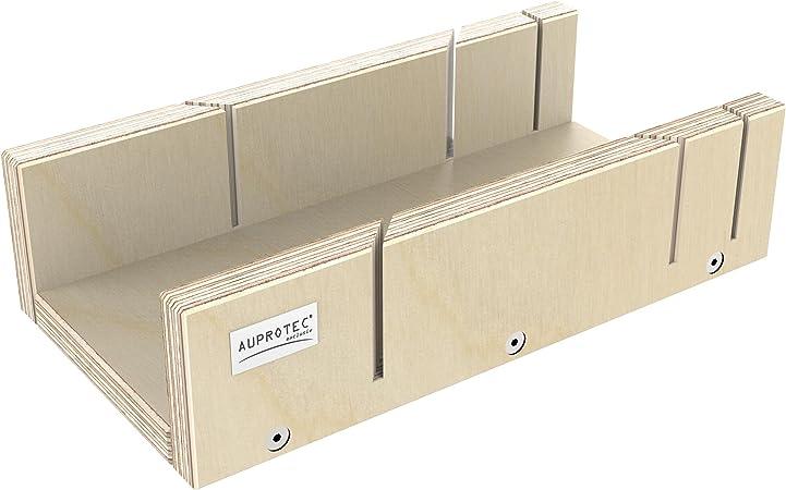 AUPROTEC Schneidlade XXL 400 x 135 x 68 mm Multiplex Birkenholz pr/äzise Gehrungslade f/ür 22,5 /° 45/° 60/° und 90/° Winkel