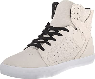 1f0fe2f84c7 Image Unavailable. Image not available for. Color: Supra Men's Skytop Off  White Suede Sneaker ...