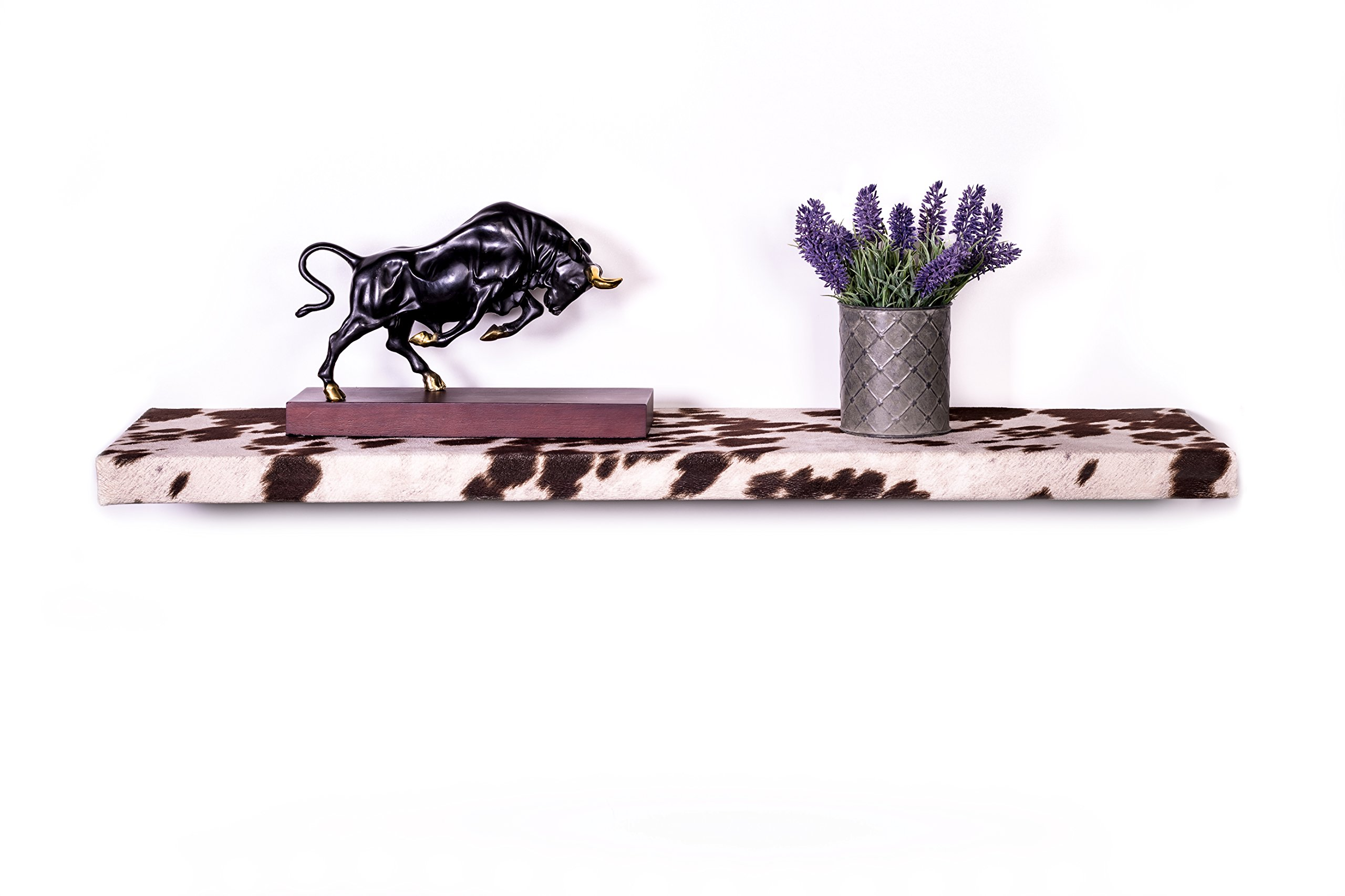 DAKODA LOVE 10'' Deep Cowhide Floating Shelves (Brown, 36'') by DAKODA LOVE (Image #1)