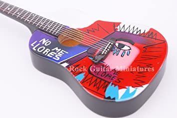 RGM694 Chris Martin Coldplay No Me Llore Guitarra en miñatura ...