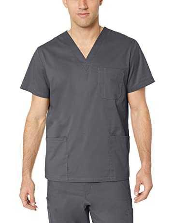 9d575342438 Amazon Essentials Men's Quick-Dry Stretch Scrub Top