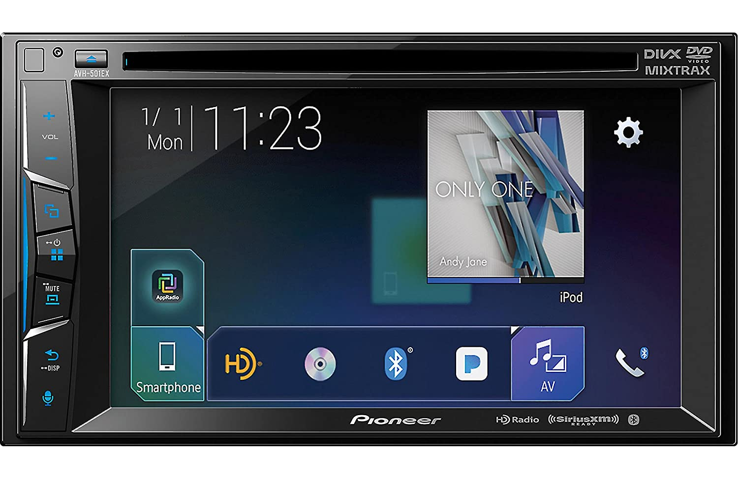Amazon.com: Pioneer AVH-501EX 6.2 Inch DVD Receiver with HD Radio and Bluetooth: Car Electronics