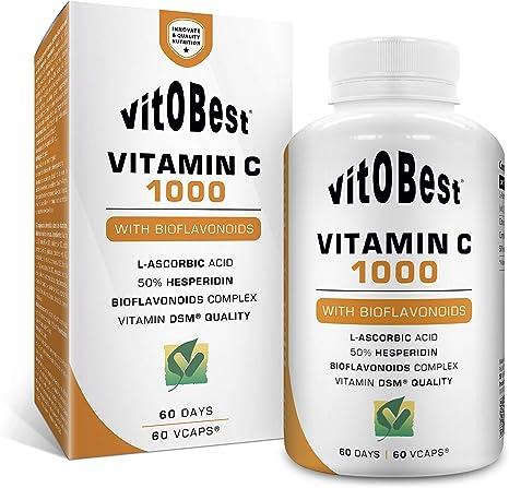 Vitamina C 1000 60 Cápsulas - VITAMIN C 1000 - Suplementos Deportivos y Suplementos Alimentación - Vitobest