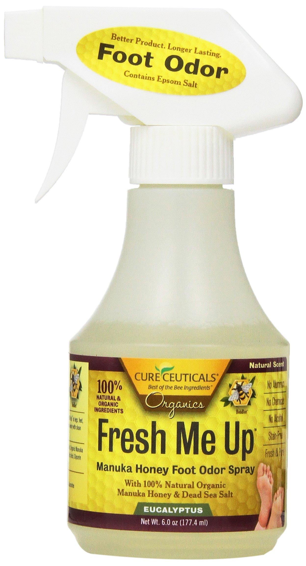 Cureceuticals Fresh Me Up Manuka Honey Foot Odor Spray - Eucalyptus, 6-Ounce