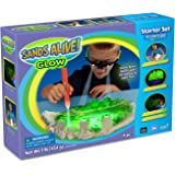 Sand Molds Glow In The Dark Starter Set – 1 lb Glow Play Sand, UV Glasses, Pen Light and Sand Tray
