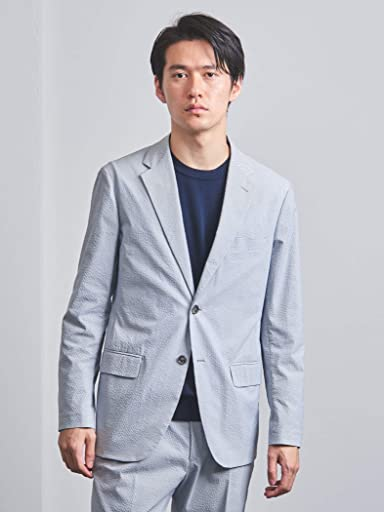 Polyester Cotton Seersucker 2-button Sport Coat 1121-110-2303: Grey