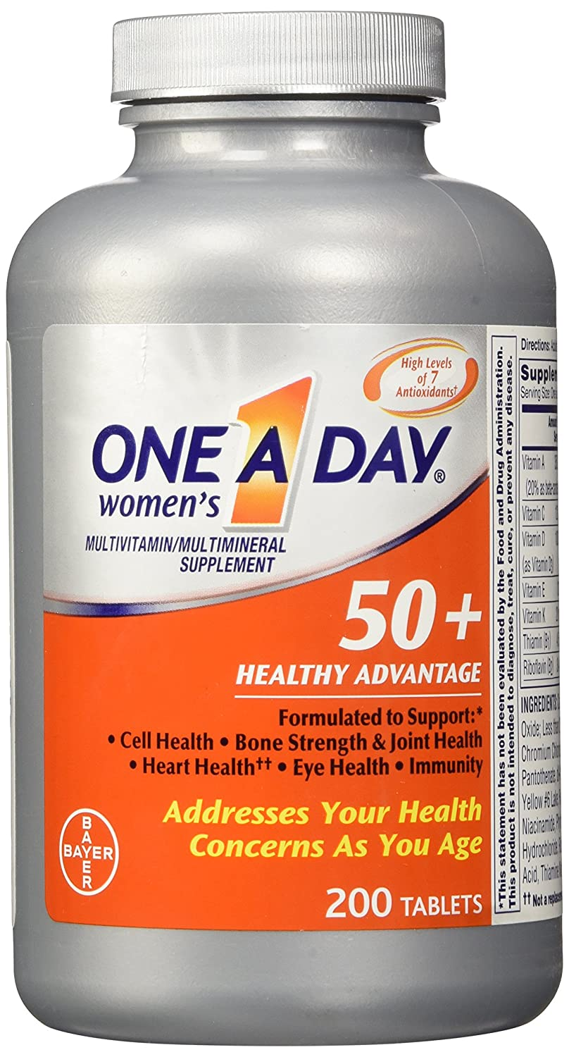 One A Day Womens 50 Plus Healthy Advantage 200 Tablets