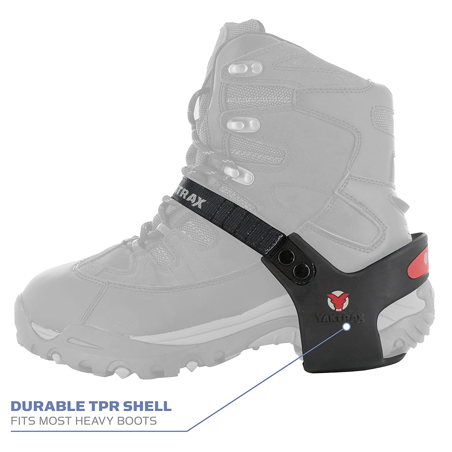 1 Pair Yaktrax Heeltrax Heel-Only Traction Cleats for Walking on Ice and Snow