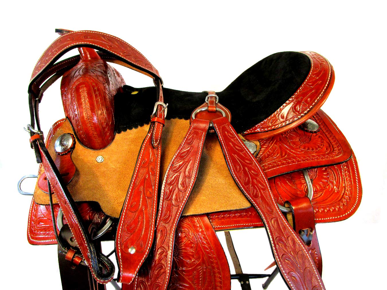 PRO Western Pleasure Trail 15 16 Trail 17 16 Inch バレルレーシングレザーイベント 馬サドルタック B07NPXG83Q Parent 16 Inch, 粋な着こなし:cfd8eeaf --- m2cweb.com