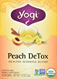 Yogi Teas Detox Peach, 16 Count (Pack of 6), Packaging May Vary