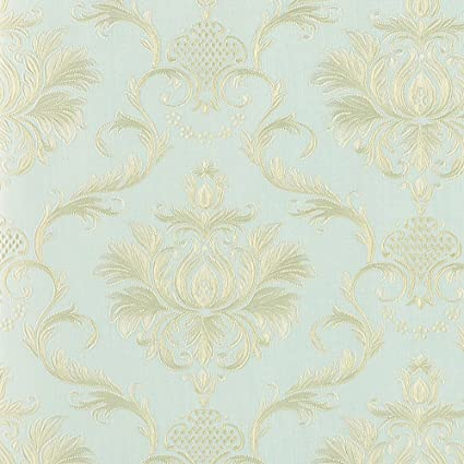 Wopeite Damask European Vintage Luxury Wallpaper Gold Embossed Textured Paper Non Woven Home Decor For