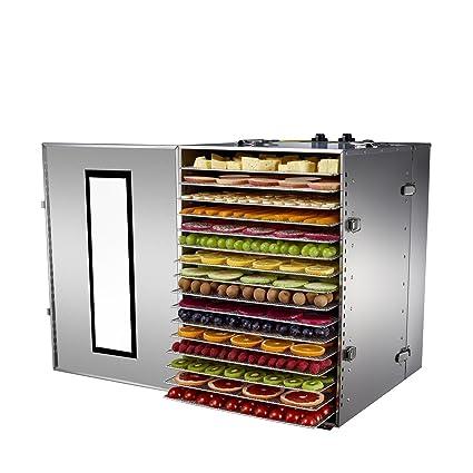 Bio Chef Premium - Deshidratador de Alimentos Profesional, 16 Bandejas de Acero Inoxidable, 1500W