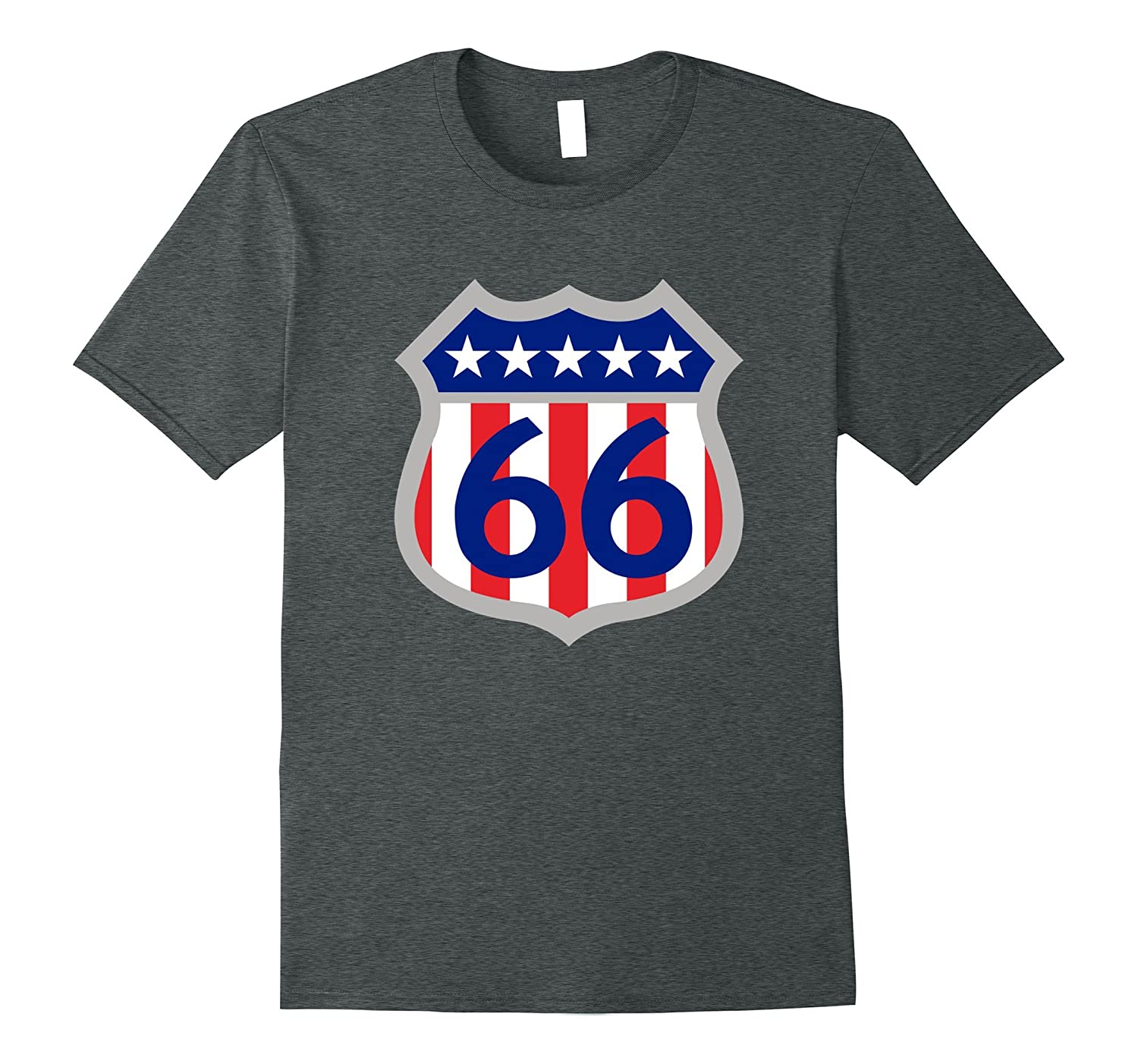 Historical Route 66 with Red White and Blue T-Shirt-PL