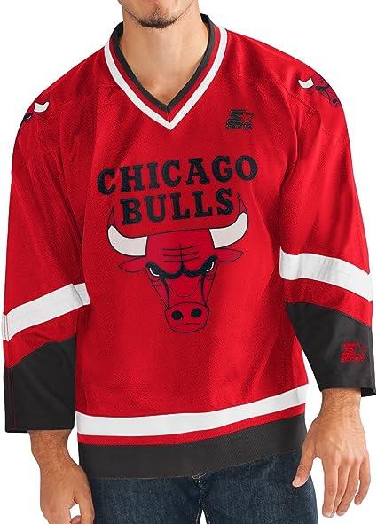 Amazon : Starter Chicago Bulls NBA Men\'s Crossover Hockey