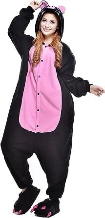 NEWCOSPLAY Unisex Adult One Piece Animal Pajamas Halloween Costume Christmas