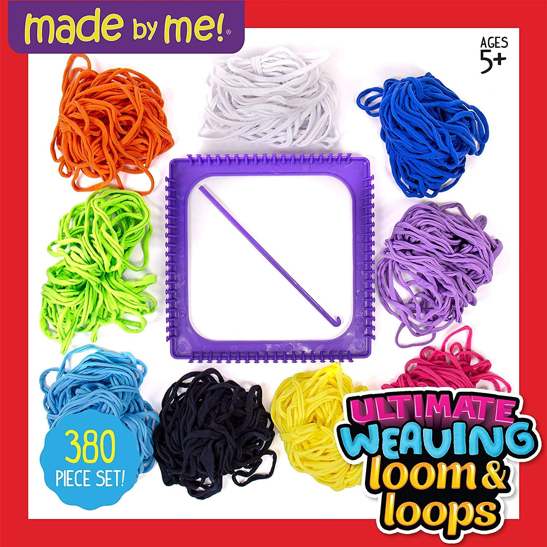 Multicolor Includes Over 360 Craft Loops /& 1 Weaving Loom Ultimate Weaving Loom