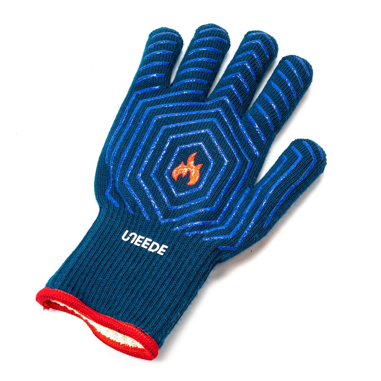 UNEEDE Extreme Heat Resistant Grill/BBQ Gloves | Premium Insulated Durable Fireproof Kitchen Mitts Designed for Cooking, Grilling, Frying, Baking | Indoor/Outdoor Accessories for Men & Women