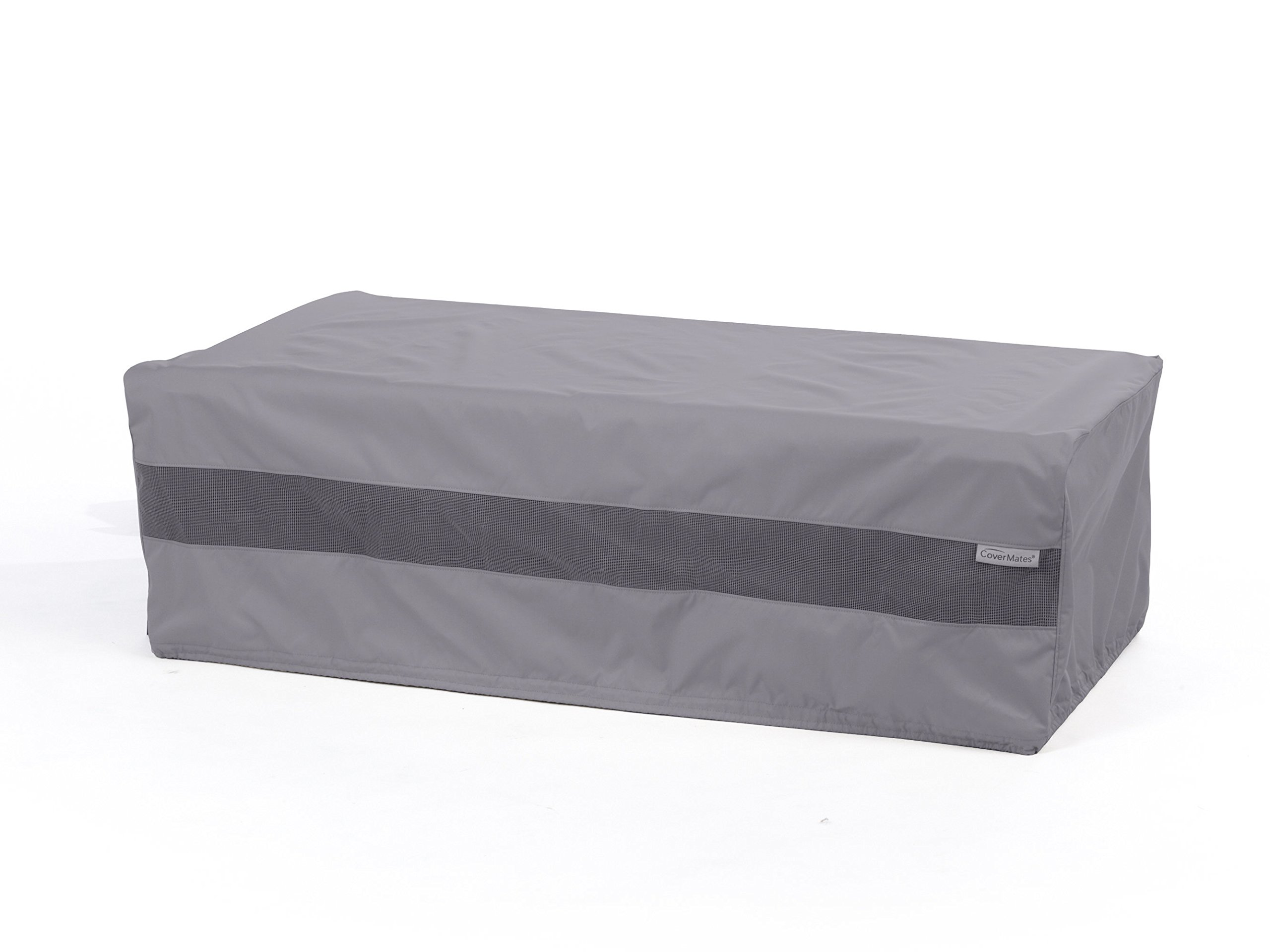 CoverMates – Rectangular Ottoman Cover – 40W x 28D x 22H – Elite Collection – 3 YR Warranty – Year Around Protection - Charcoal
