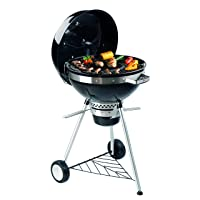 Kugelgrill Tepro Philadelphia schwarz XXL Kettle Grill Camping Balkon Garten ✔ Rollen ✔ Deckel ✔ rund ✔ rollbar ✔ stehend grillen ✔ Grillen mit Holzkohle ✔ mit Rädern