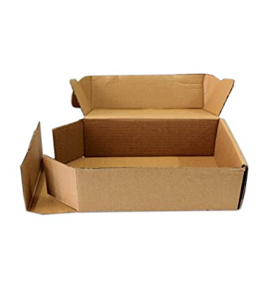 c7d3d17b7be Sriyug Print Production Brown Packaging Flat Corrugated Boxes 10 x 7 x 3.5  inch 3 Ply Pack of 50 Carton Boxes for Warehouse Industrial Office use  ...