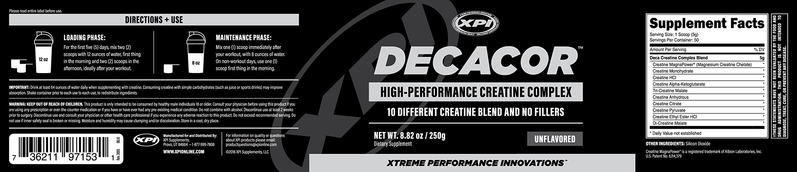 Decacor Creatine (2 Pack) - Best Creatine Powder - 10 Creatine Blend - Top Creatine Supplement - Enhance Muscles, Power and Recovery by XPI Supplements (Image #2)