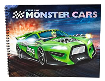 Monster Cars Colouring Book Amazon Co Uk Toys Games