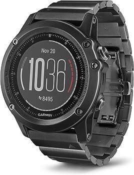 Garmin Fenix 3 HR Slate Gray GPS Watch w/Stainless Steel Band