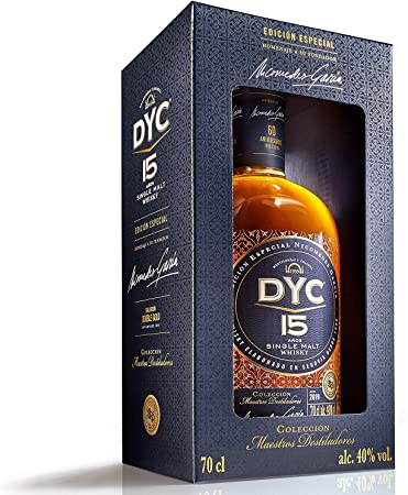 DYC 15 Años Edición Especial 60 Aniversario Single Malt Whisky, 40% - 700 ml