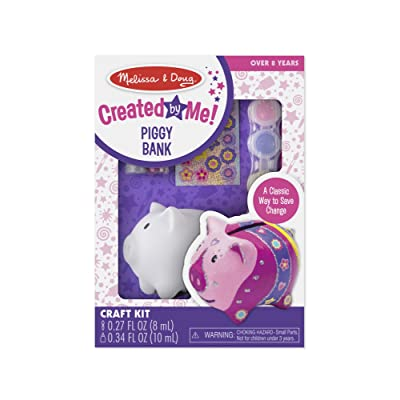 Melissa & Doug Created by Me! Piggy Bank Decorate-Your-Own Craft Kit: Melissa & Doug: Toys & Games